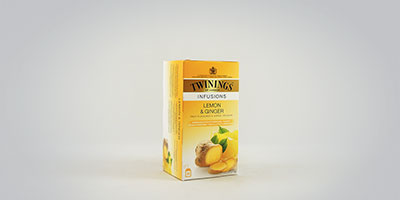 Twinings Lemon and Ginger 25 x 2 g Teebeutel